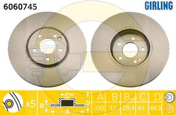 6060745 Тормозной диск