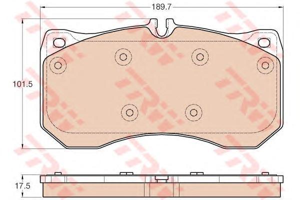 GDB1996 Колодки тормозные AUDI A6/A7/A8 10- передние