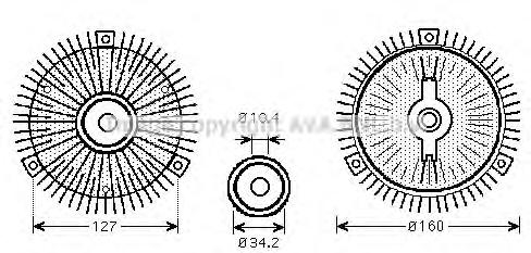 MSC414 Вискомуфта вентилятора радиатора MERCEDES SPRINTER 95-06