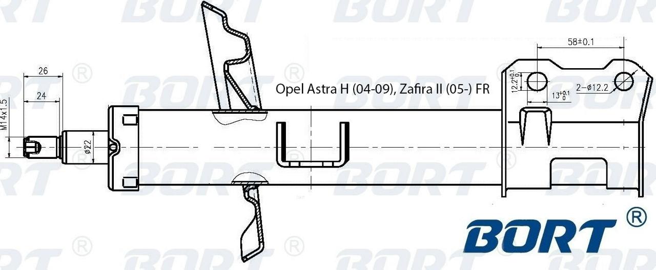 g22250204r Стойка амортизационная газомасляная передняя правая