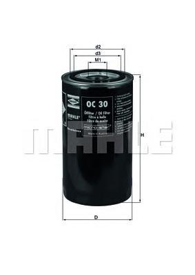 OC30 Фильтр масляный VOLVO F10/F12/F6/FH12