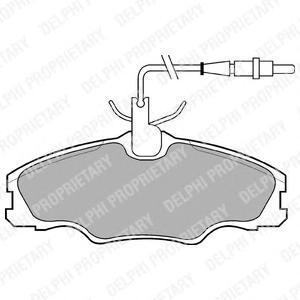 LP985 Колодки тормозные PEUGEOT 406 95-04 передние