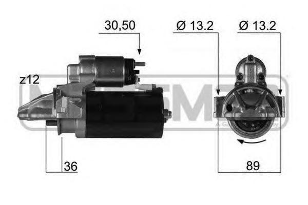 220353 Стартер FORD TRANSIT/CITROEN JUMPER/FIAT DUCATO/ BOXER 2.2-3.2 TDCI/HDI 06- 2кВт