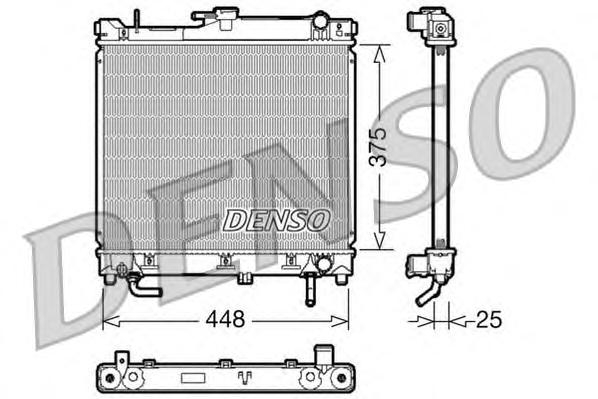 DRM47003 Радиатор охл. ДВС SUZ Jimny 1.3 I AUT. 08.98-