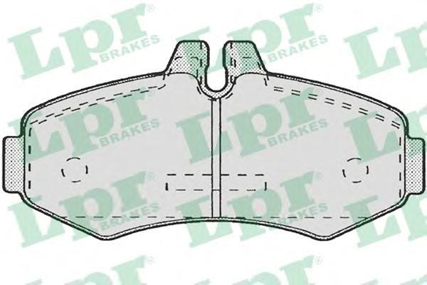 05P672 Колодки тормозные MERCEDES VITO 9303/SPRINTER (901-903) 06 передние