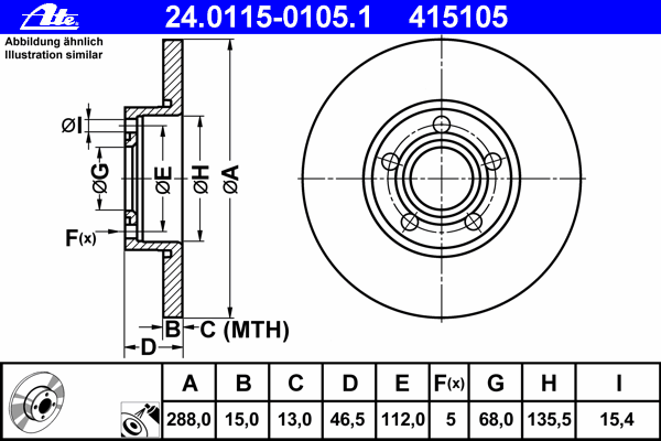 24011501051 Тормозной диск