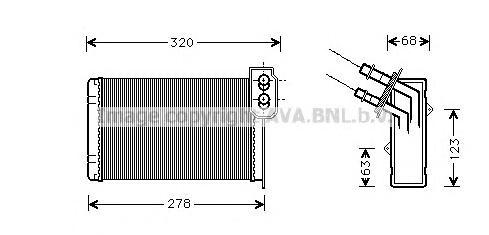RT6048 Радиатор отопителя RENAULT MEGANE/KANGOO 1.4-2.0/1.9D 96-03