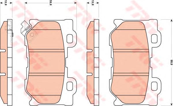GDB3515 Колодки тормозные INFINITI FX35/37/50 08-/GS35/37/25 06- задние