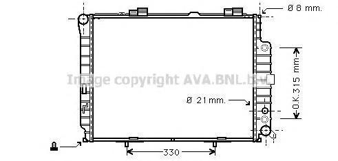 MSA2228 Радиатор системы охлаждения MERCEDES-BENZ: E-CLASS (W210) E 300 Turbo-D (210.025) 95 - 02 , E-CLASS универсал (S210) E 3