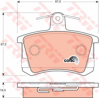 GDB1163 Колодки тормозные AUDI А100 8295/A4 9597/A6 9597/A8 9499 задние