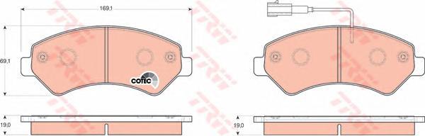 "GDB1703 Колодки тормозные CITROEN JUMPER/FIAT DUCATO/PEUGEOT BOXER R16"" 06- передние"