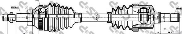 218002 Привод в сборе FORD MONDEO I-II 1.6-2.5 93-00 лев. +ABS