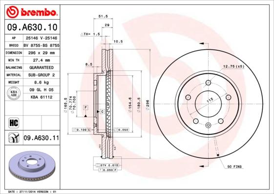 09A63010 Диск тормозной CHEVROLET CAPTIVA/OPEL ANTARA 07- передний вент.