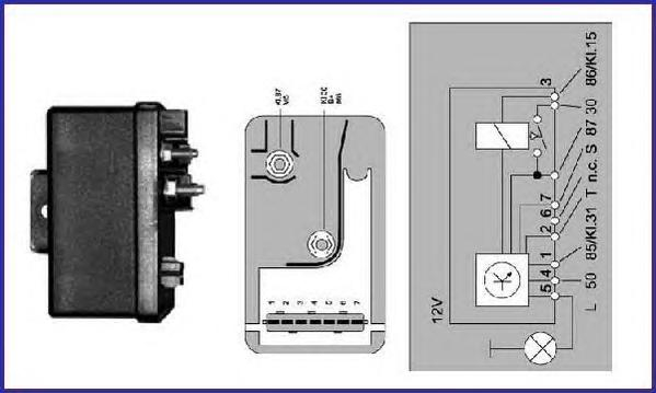 GR054 Реле свечей накаливания CITROEN: AX 15 D 86-98, BERLINGO 1.9 D 96-, BERLINGO фургон 1.9 D 96-, JUMPER c бортовой платформо