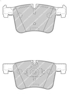 FDB4394 Колодки тормозные BMW 1 F20/3 F30/X3 F25 10- передние