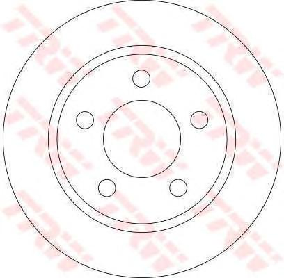 DF4419 Диск тормозной MAZDA 3 1.4-2.0 03- задний