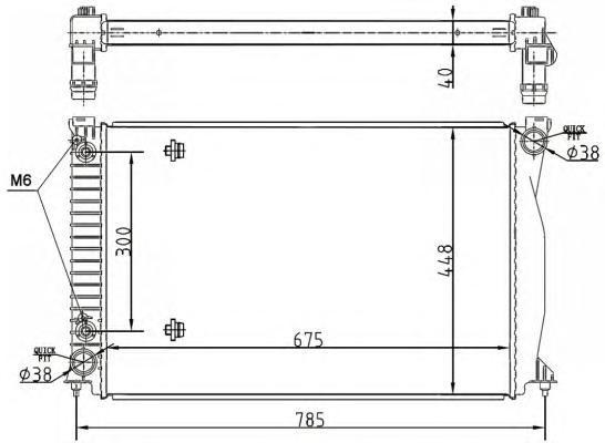 53105 Радиатор VAG A6 4.2L V8 04-