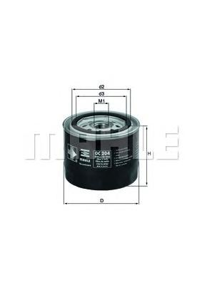 OC204 Фильтр масляный VOLVO 740/940/960/S40/S70/S90 1.6-2.9