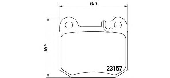P50043 Колодки тормозные MERCEDES W163 ML270-500 98-05 задние