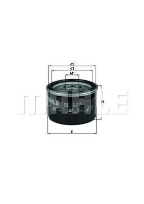 OC607 Фильтр масляный SMART FORTWO 1.0 07-