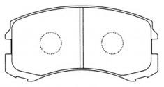 D6109 Колодки тормозные MITSUBISHI LANCER 1.3-2.0 (правый руль) 03- передние