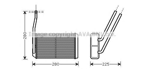 AU6177 Радиатор отопителя LAND ROVER FREELANDER 1.8/2.5/2.0TD 98-