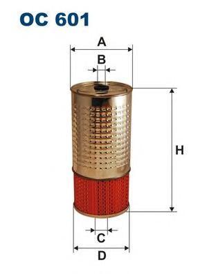 OC601 Фильтр масляный MB W123/W126/W460/T1/T2 2.0D-2.9D