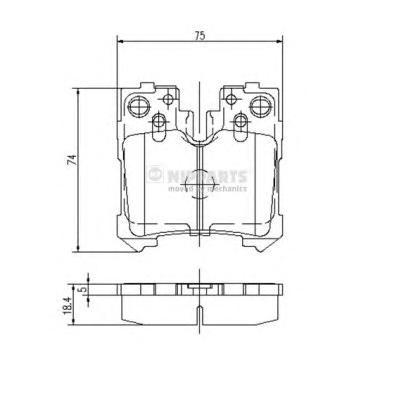 N3612037 Колодки тормозные LEXUS LS 4.6-5.0 06- задние