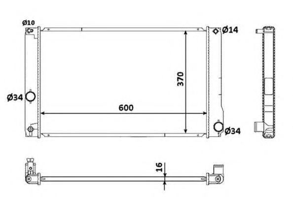 53926 Радиатор TO Prius 1.8L Hybrid 01.09-