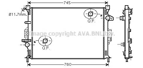FDA2423 Радиатор FORD MONDEO IV 1.6-2.3/1.8TD-2.2TD 07-