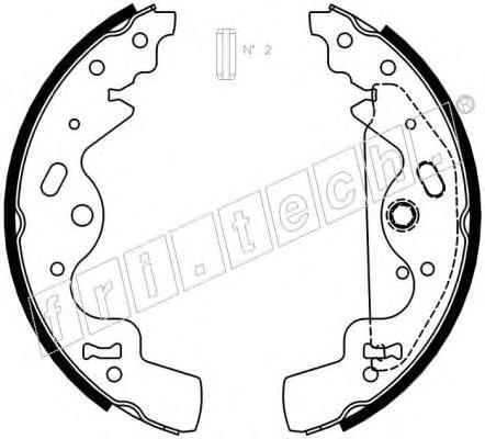 1092308 Комплект тормозных колодок