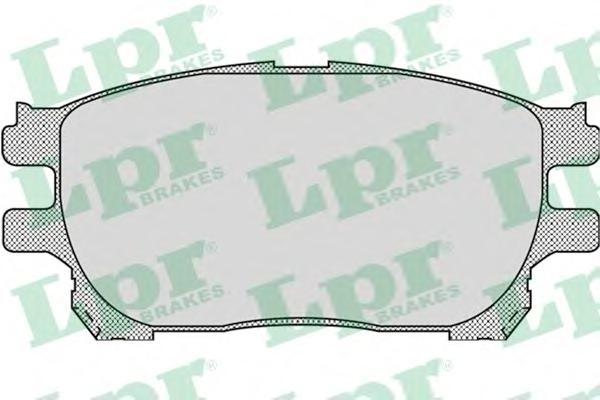 05P999 Колодки тормозные TOYOTA PREVIA 00- передние
