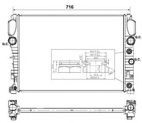 53423 Радиатор MB W211 E200-220 CDI