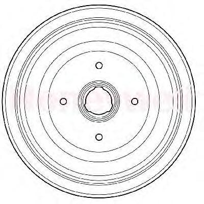 329133J Барабан тормозн зад A100(44)/A80(B4)