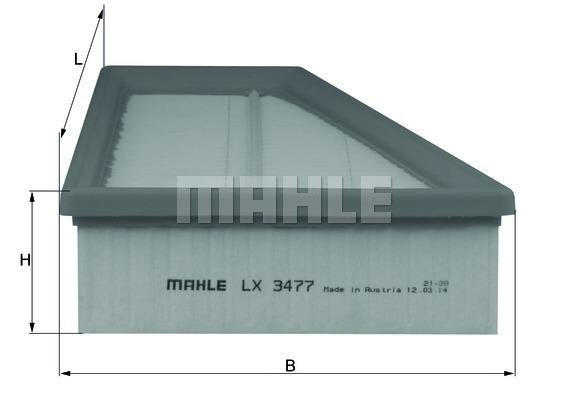 LX3477 Фильтр воздушный MB W246 M270