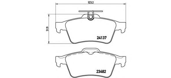 P59042 Колодки тормозные FORD FOCUS II/III/MAZDA 3/OPEL VECTRA C/VOLVO S40 задние