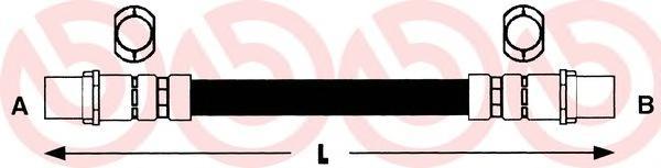 T85040 Шланг тормозной AUDI A4 95-01/A6 97-05/SKODA SUPERB/VW PASSAT 96-05 передний