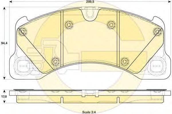 6119149 Колодки тормозные VW TOUAREG (1LJ) 10- передние
