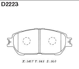 D2223 Колодки тормозные TOYOTA CAMRY (V30) 01-06 передние