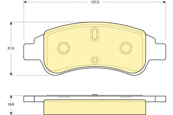 6115634 Колодки тормозные CITROEN BERLINGO/C4/XSARA/PEUGEOT PARTNER передние