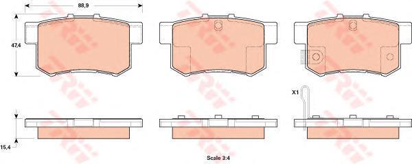 GDB1923 Колодки тормозные SUZUKI SX4 07-/FIAT SEDICI 06- задние