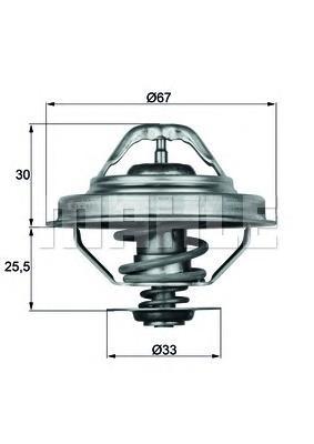 TX2888D Термостат BMW E30/E36/E34 1.6-2.8 90-00