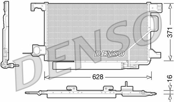 DCN17026 Радиатор кондиционера MB W203, A209 05.00-