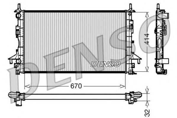 DRM23084 Радиатор системы охлаждения RENAULT: ESPACE IV (JK0/1) 1.9 dCi (JK0U)/1.9 dCi (JK0U, JK0G)/2.0/2.0 (JK09, JK0K)/2.0 (JK