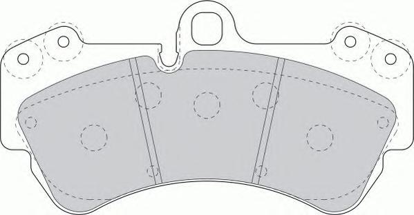 FDB1625 Колодки тормозные VOLKSWAGEN TOUAREG 03/PORSCHE CAYENNE 03 передние