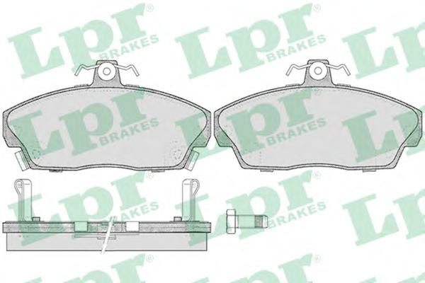 05P430 Колодки тормозные HONDA CIVIC 1.4-1.8 94-05 передние