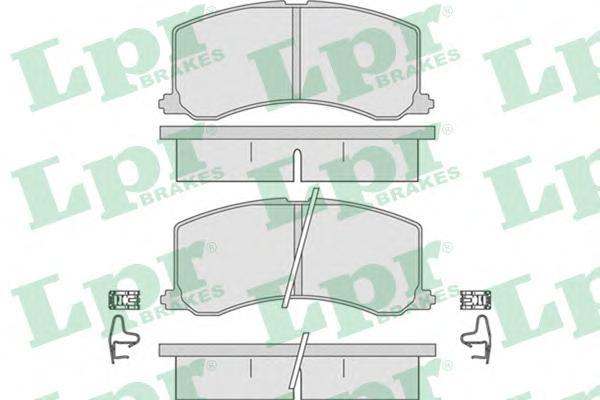 05P665 Колодки тормозные дисковые передн SUZUKI: BALENO 95-02, BALENO хечбэк 95-02, BALENO универсал 96-02