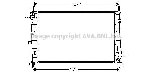 FDA2165 Радиатор FORD MONDEO 1.6-2.0 M/T 93-01