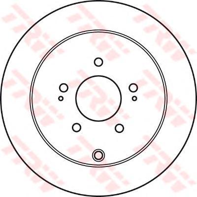 DF4963 Диск тормозной CITROEN C-CROSSER/MITSUBISHI OUTLANDER/ASX/PEUGEOT 4007 задний