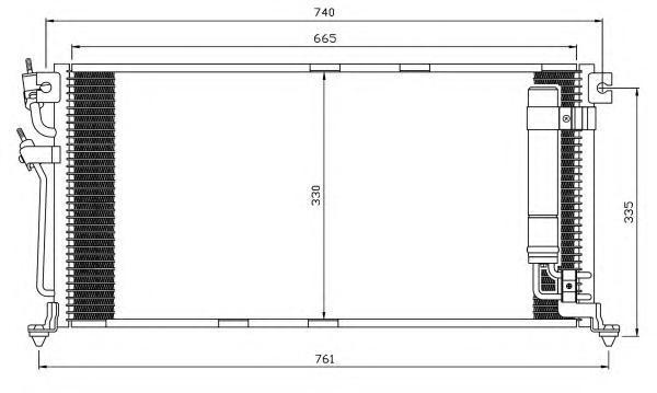 35541 Конденсер MI Lancer 03-